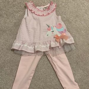 Little Lass Baby Girl Unicorn Outfit
